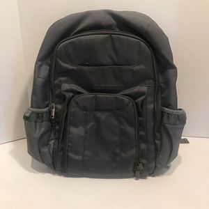 Well padded grey blue backpack in good condition